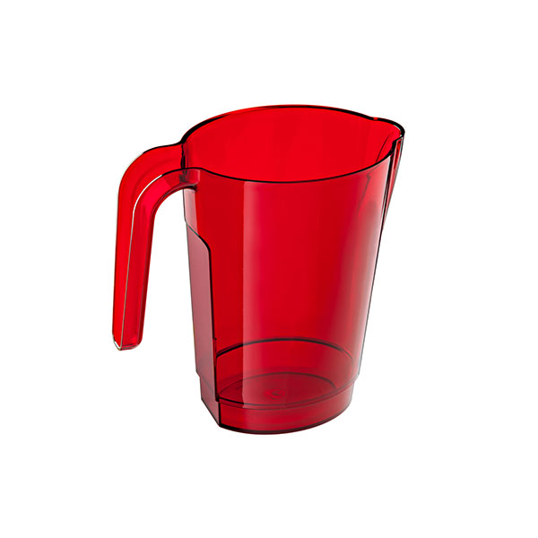 6277 – PICHET OVA 1 L ROUGE TRANSPARENT