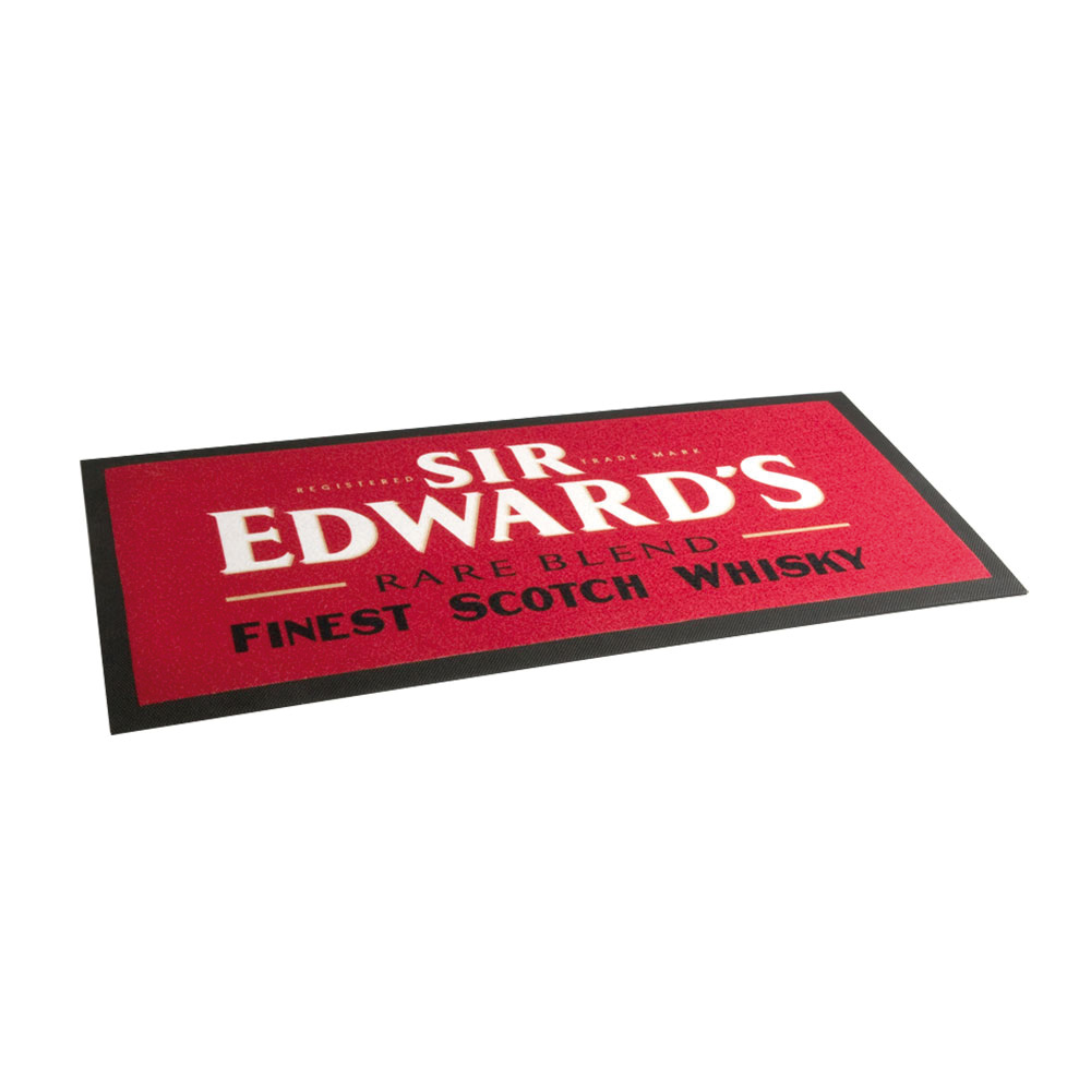 TAPIS DE BAR SUR MESURE ROUGE SIR EDWARDS